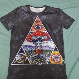 Psychedelic triangle shirt
